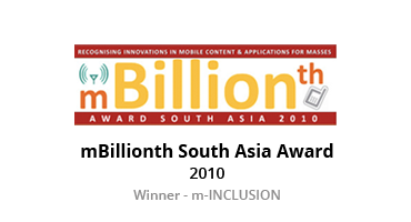 mBillionth South Asia Award - 2010